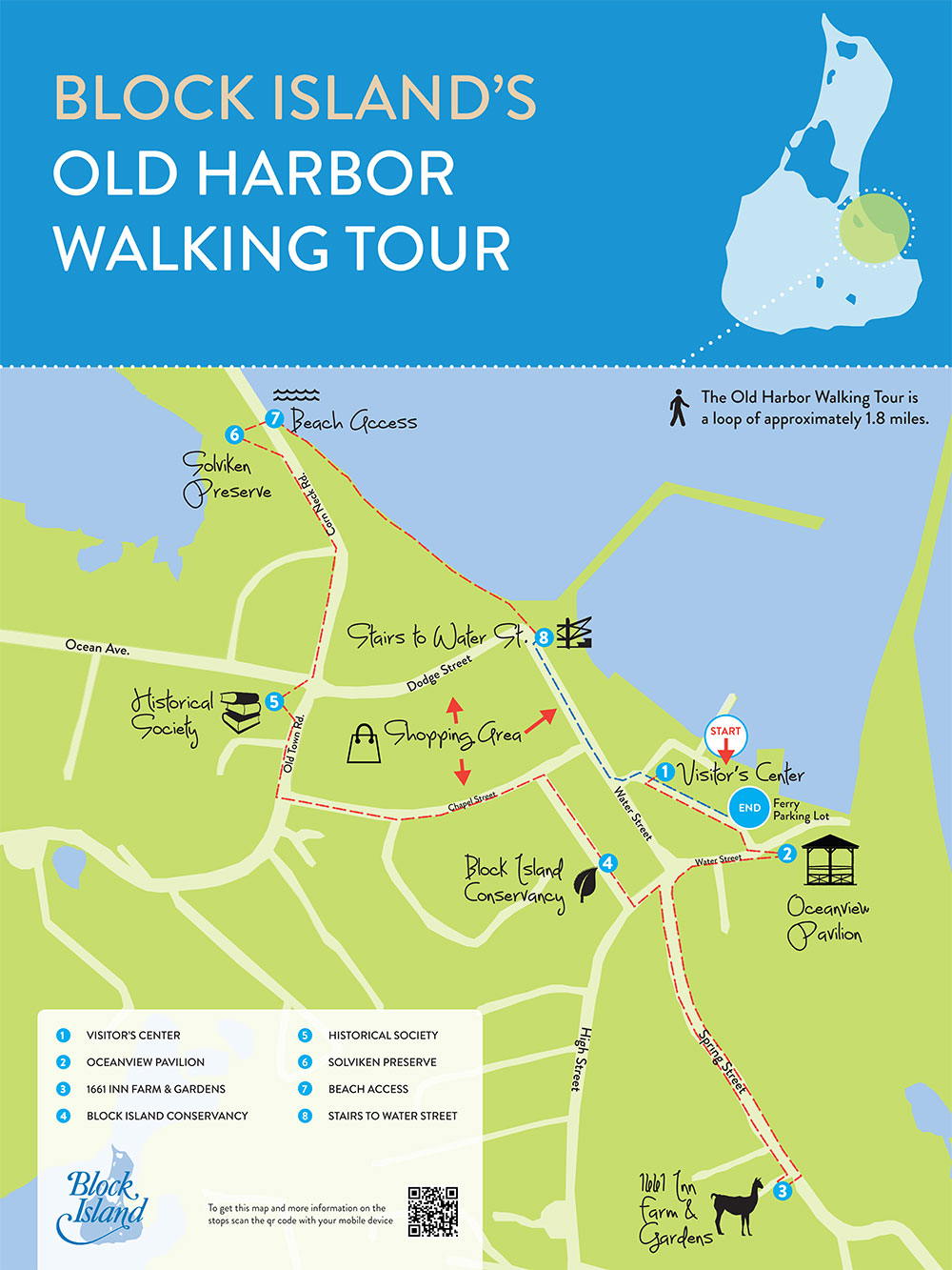 Block Island Walking Tour Map
